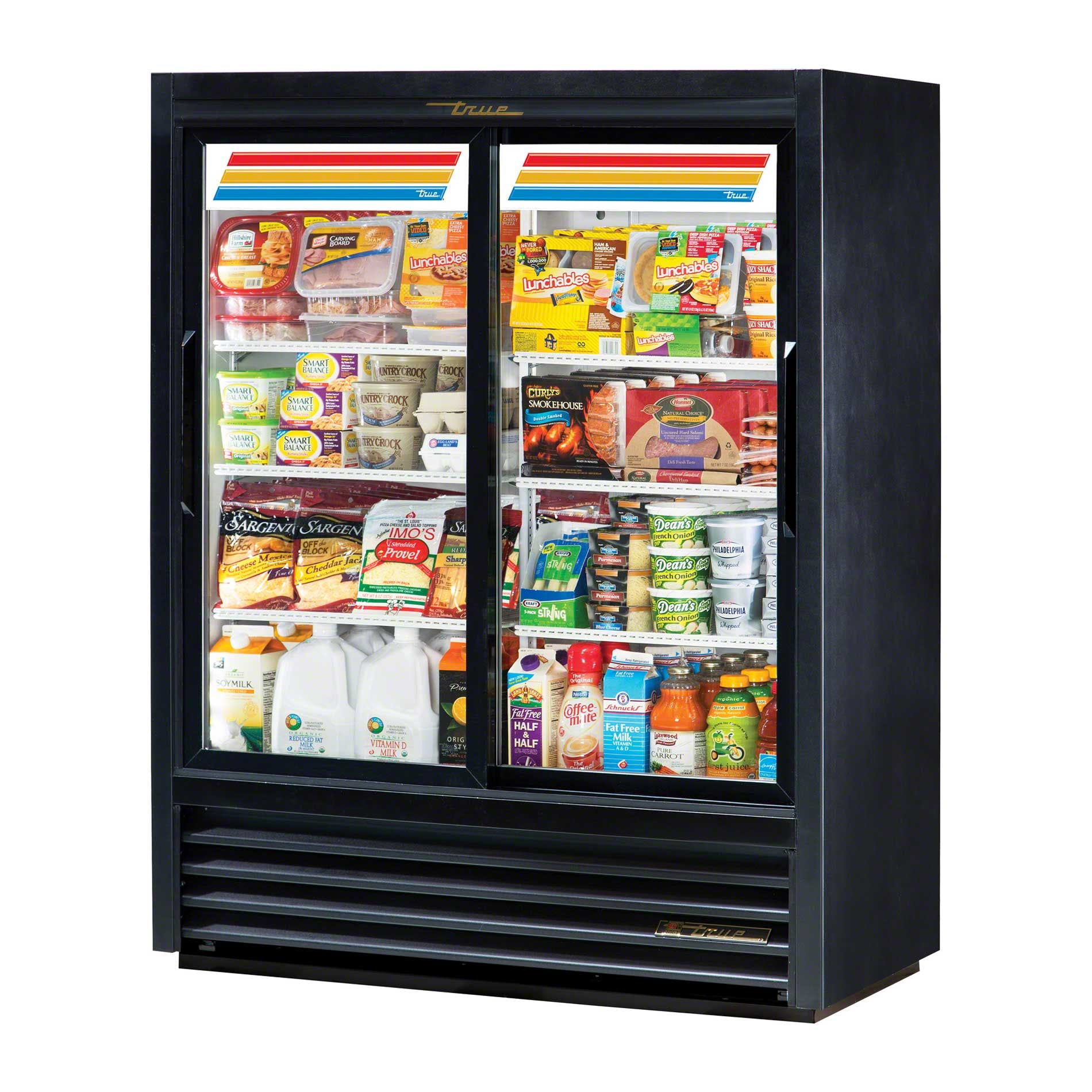 "True - GDM-41SL-60-LD 47"" Convenience Store Glass Door Merchandiser Refrigerator LED Commercial refrigerator sold by Food Service Warehouse"