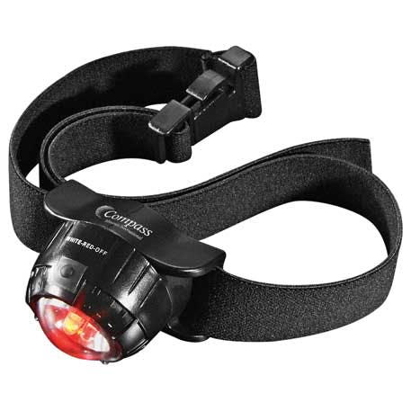 3 LED Headlamp 2 Lithium Battery (Black - 1225-57 - Leeds Promotional flashlight sold by Distrimatics, USA