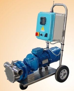 "Zambelli Pump ""Tifone"" T-70/ICDR, Remote Radio Controlled, Variable Speed Pump With Inverter Wine pump sold by Gino Pinto INC"