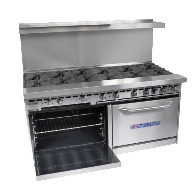 "Bakers Pride 72-BP-12B-S30 - 12 Burner Gas Range - (2) 30"" Standard Ovens Commercial range sold by Elite Restaurant Equipment"