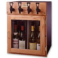 WineKeeper Napa 4 Bottle 2 Red 2 White Wine Dispenser Preservation Unit - Oak Model:7992 Wine pub system sold by Beverage Factory