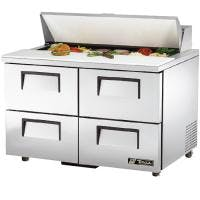"True TSSU-48-12D-4 - 48"" 12 Bin 4 Drawer Sandwich/Salad Prep Table Food prep table sold by Prima Supply"