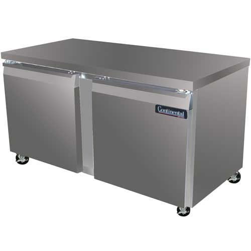 "Continental Refrigerator - SW60 60"" Worktop Refrigerator Commercial refrigerator sold by Food Service Warehouse"