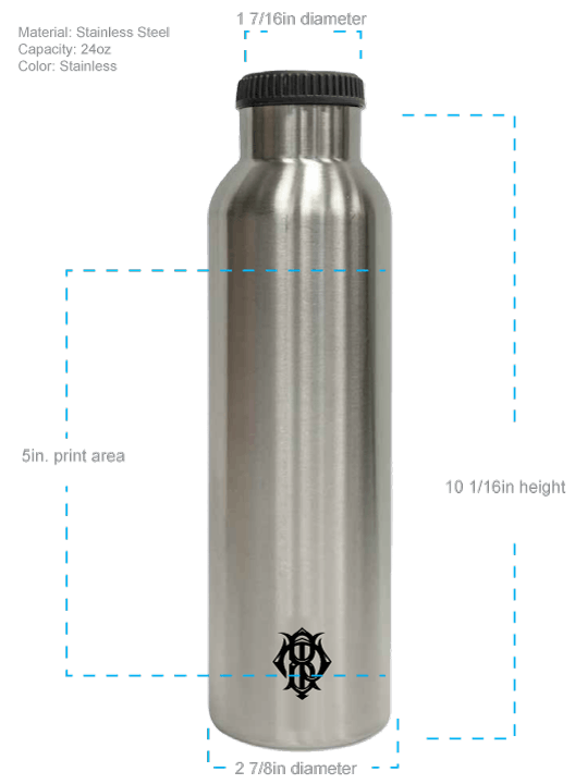 24oz Stainless Double-Walled Insulated Growler - sold by Cascade Graphics