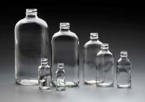 Boston Rounds Glass bottle sold by Kaufman Container Company