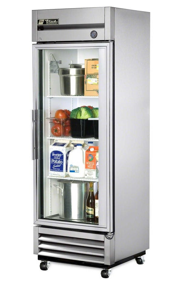 True T-19G Glass Door Reach-In Refrigerator Commercial refrigerator sold by pizzaovens.com