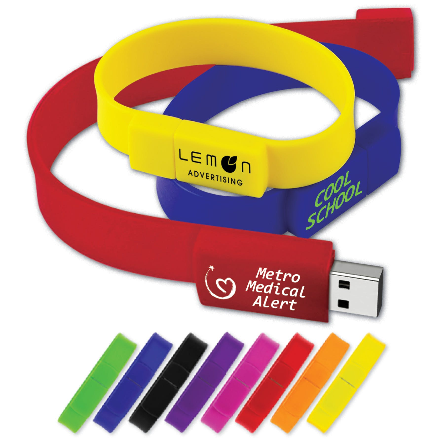 USB 2.0 Wristband Drive (Item # ZDJOR-JUDHM) Promotional flash drive sold by InkEasy