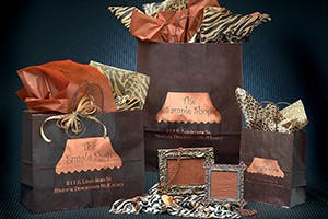 Chocolate Colored Paper Shopping Bags  - Paper Shopping Bags - sold by Howard Packaging