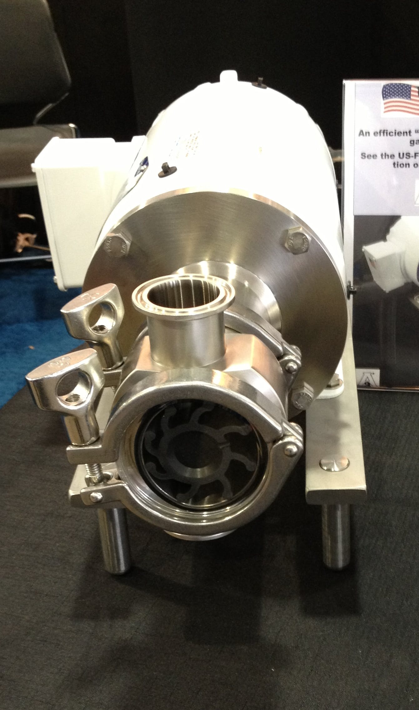 US-FIP Flexible Impeller Pump Sanitary pump sold by McFinn Technologies-US-FIP