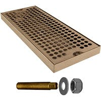 "DP-120D -12"" Stainless Steel Surface Mount Drain Tray, with Drain"