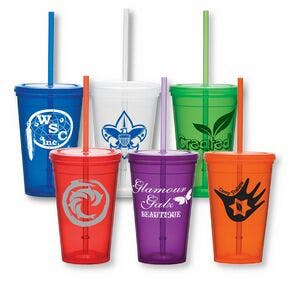 16 Oz. Double Wall Economy Tumbler Plastic cup sold by Dechan, Inc. II