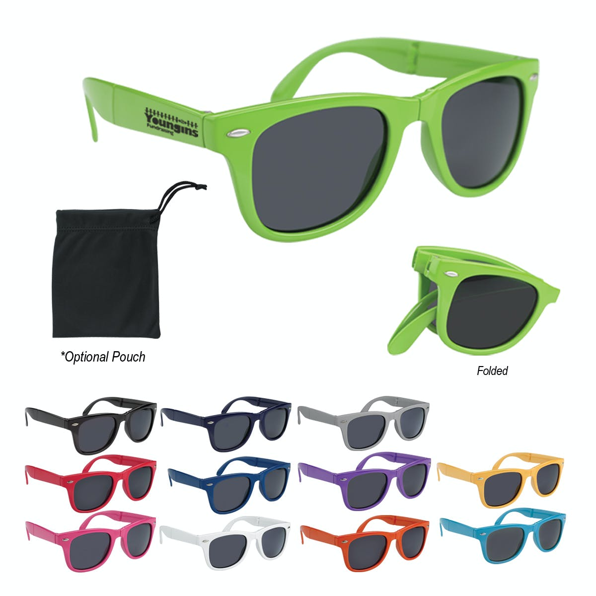 Folding Sunglasses (Item # JFFJN-ITVIQ) Custom sunglass sold by InkEasy