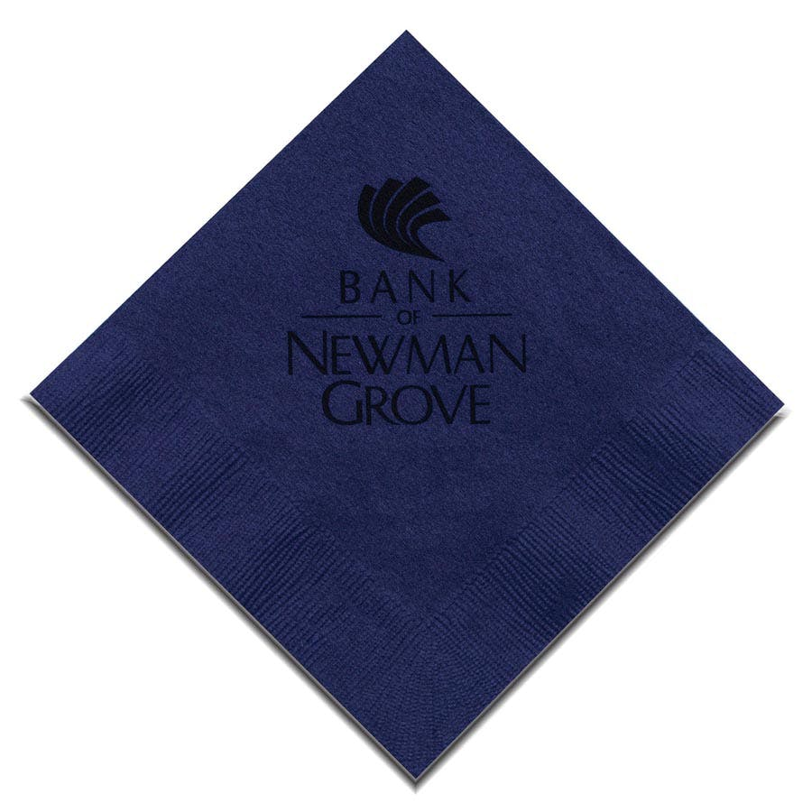 Navy Blue Beverage Napkin (Item # CIGIR-JKEBM) Napkin sold by InkEasy