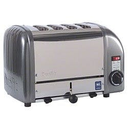 Cadco - CTW4M - Stainless Metallic Grey Mica Toaster - 4 Slots Commercial toaster sold by Elite Restaurant Equipment