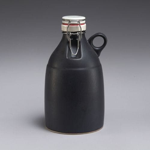 The Loop - Matte Black 64oz Growler sold by Portland Growler Company