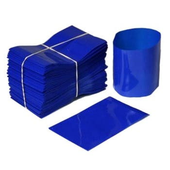 Blue Shrink Bands for Sauce Bottles with 38mm Finish Shrink band sold by Fillmore Container Inc