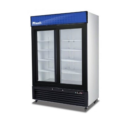Migali C-49RS Glass Door Refigerator (2 sliding doors) Commercial refrigerator sold by pizzaovens.com