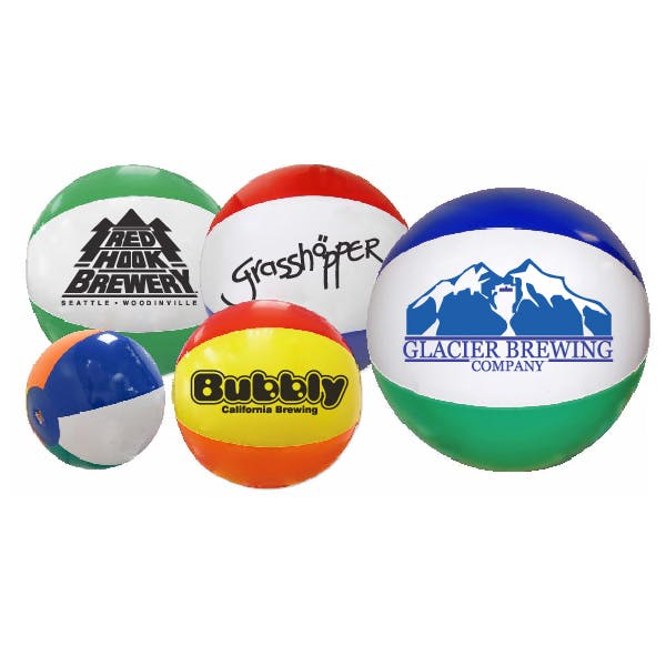6in. Multi-Colored Beach Ball Promotional product sold by MicrobrewMarketing.com