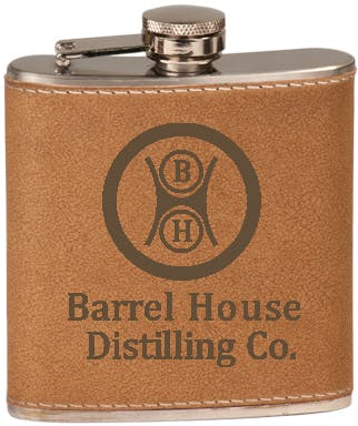 6 Oz. Leather Flask (Item # AAELL-ISYZA) Flask sold by InkEasy