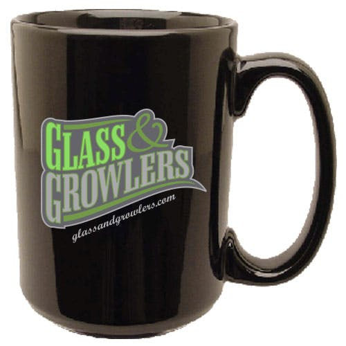Black El Grande Mug 15 oz Ceramic mug sold by Glass and Growlers