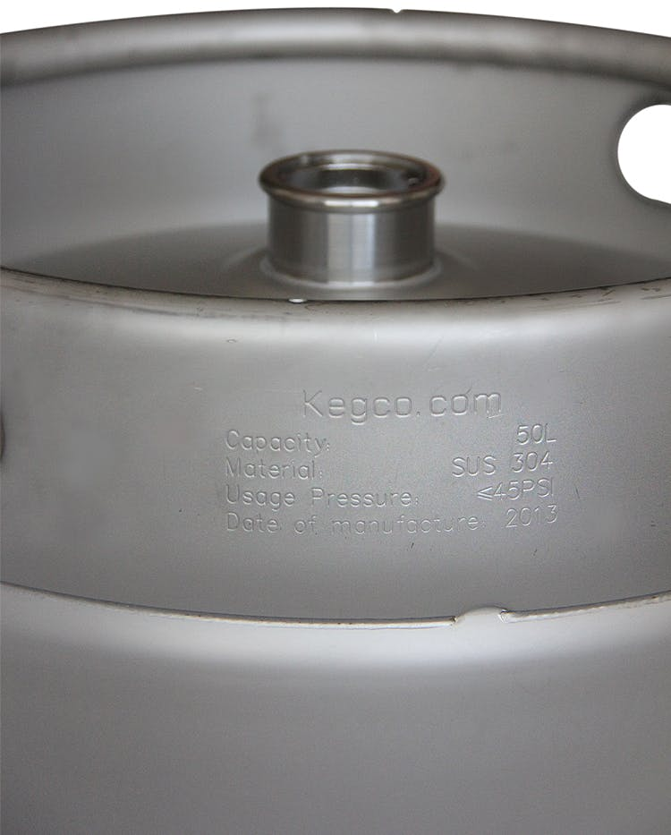13.2 Gallon Commercial Keg with Micromatic D System Sankey Valve Keg sold by Beverage Factory