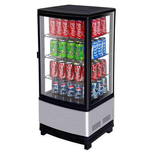"Turbo Air - CRT-77-1R 17"" Glass Door Diamond Show Case Merchandiser Commercial refrigerator sold by Food Service Warehouse"