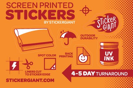 Silk Screen Stickers Promotional sticker sold by StickerGiant