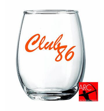 5.5oz Stemless Wine Glass Wine glass sold by Atlantic Custom Solutions