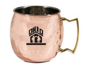 Moscow Mule Mug (Hammered Finish) Copper mug sold by Ink Splash Promos, LLC