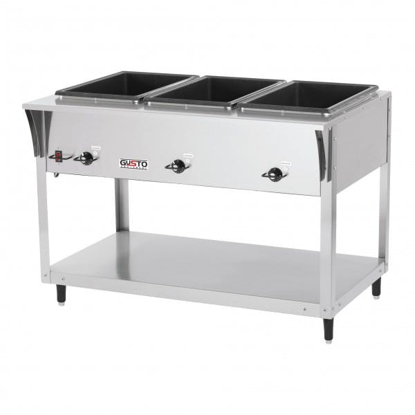 120v Electric 3 Well Stainless Steam Table