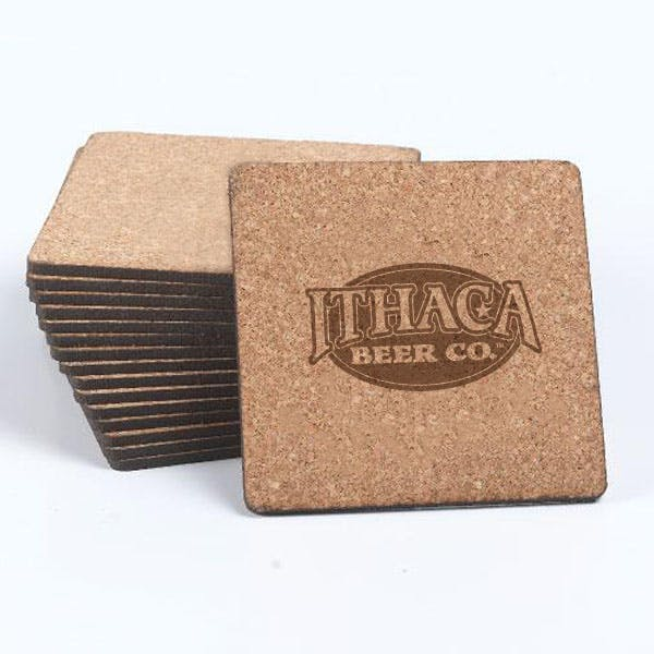 "3.5"" Square Cork Coaster Drink coaster sold by MicrobrewMarketing.com"