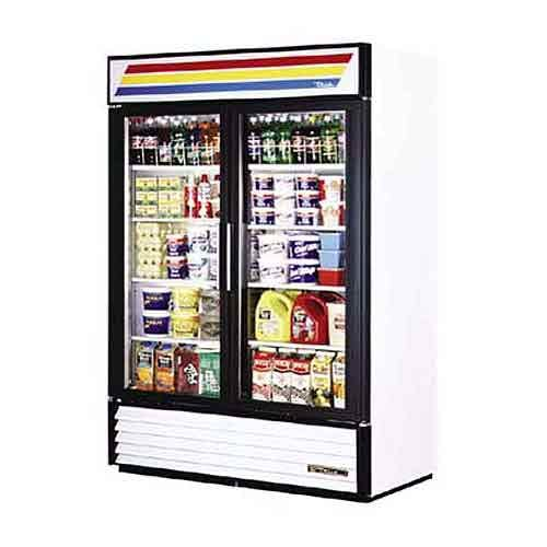 "True - GDM-49 54"" Swing Glass Door Merchandiser Refrigerator Commercial refrigerator sold by Food Service Warehouse"