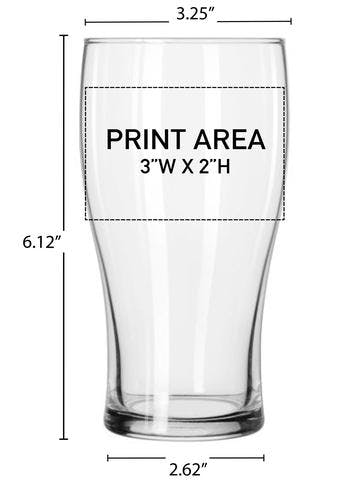 20 OZ. PUB GLASS #381 Beer glass sold by Clearwater Gear