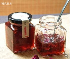 Square glass jars - sold by Luscan Group