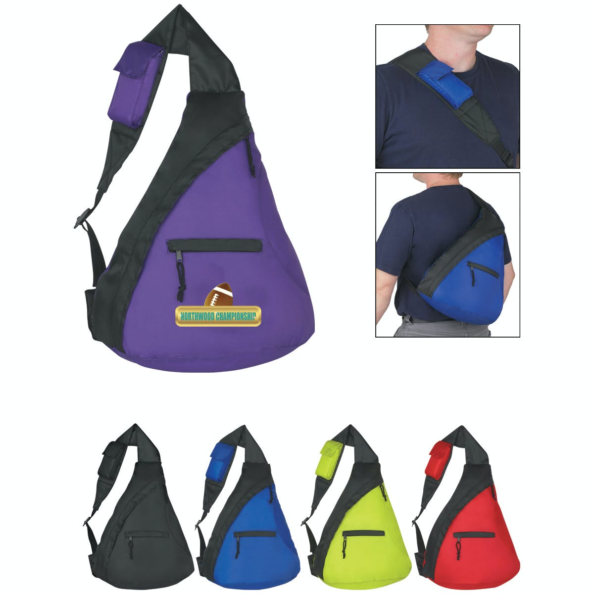 Budget Sling Backpack (Item # TGLOM-GVSXD) Backpack sold by InkEasy