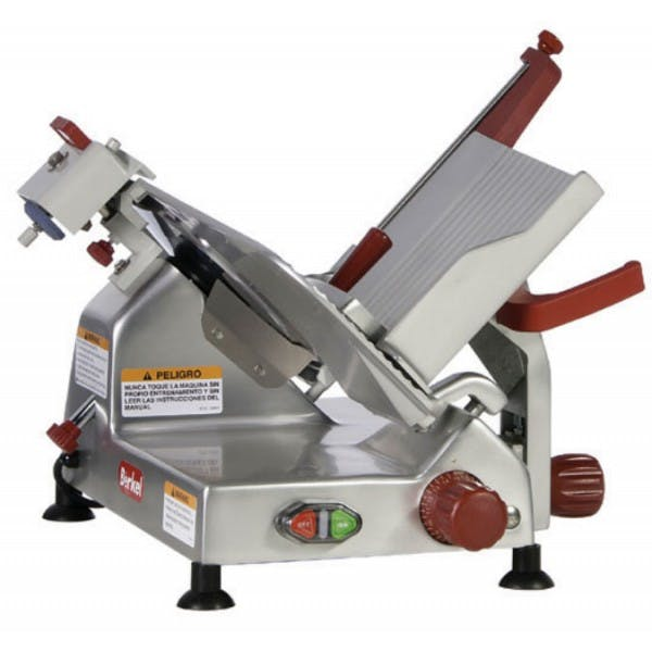 "10"" Manual Meat Slicer w/ Built-In Sharpener - BER825A-PLUS"
