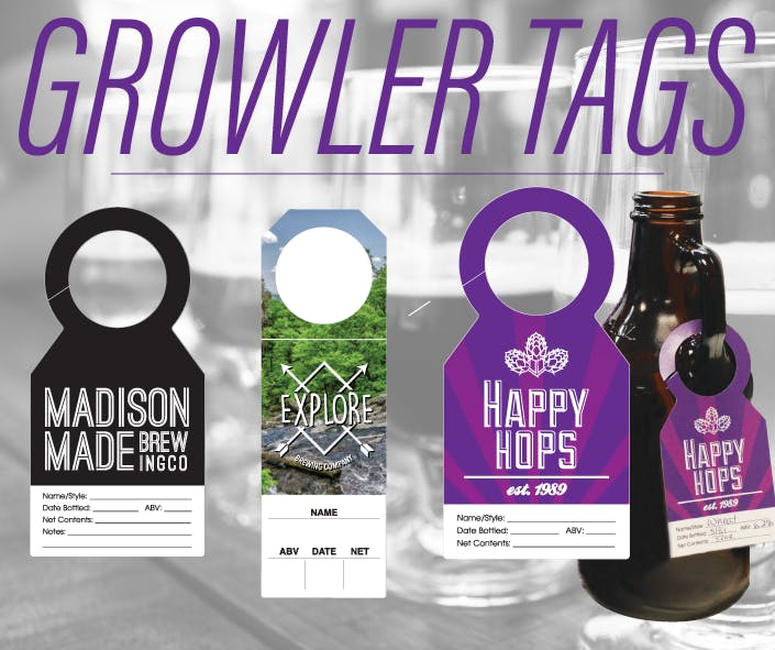 Bottle Tags Promotional product sold by TAP PRODUCTIONS & CREATIVE GROUP, INC. II