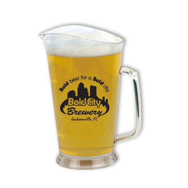 32 oz. Plastic Pitcher Beer pitcher sold by MicrobrewMarketing.com