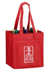 6 Bottle Wine Tote Wine bag sold by Freedom Branding