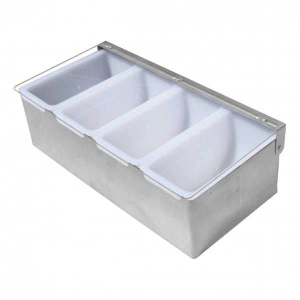 Stainless Condiment Holder w/ 4 Pint Inserts