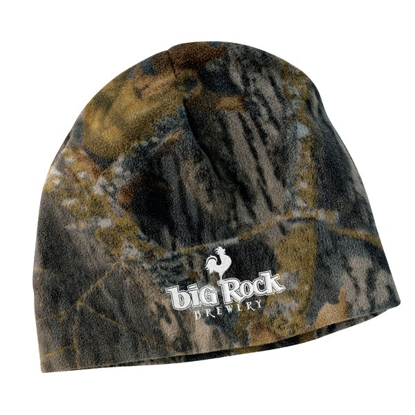 Mossy Oak Fleece Beanie Promotional cap sold by MicrobrewMarketing.com