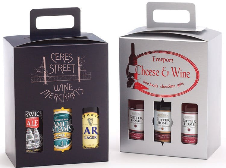 Sampler Box Wine packaging sold by The Packaging Source, Inc.
