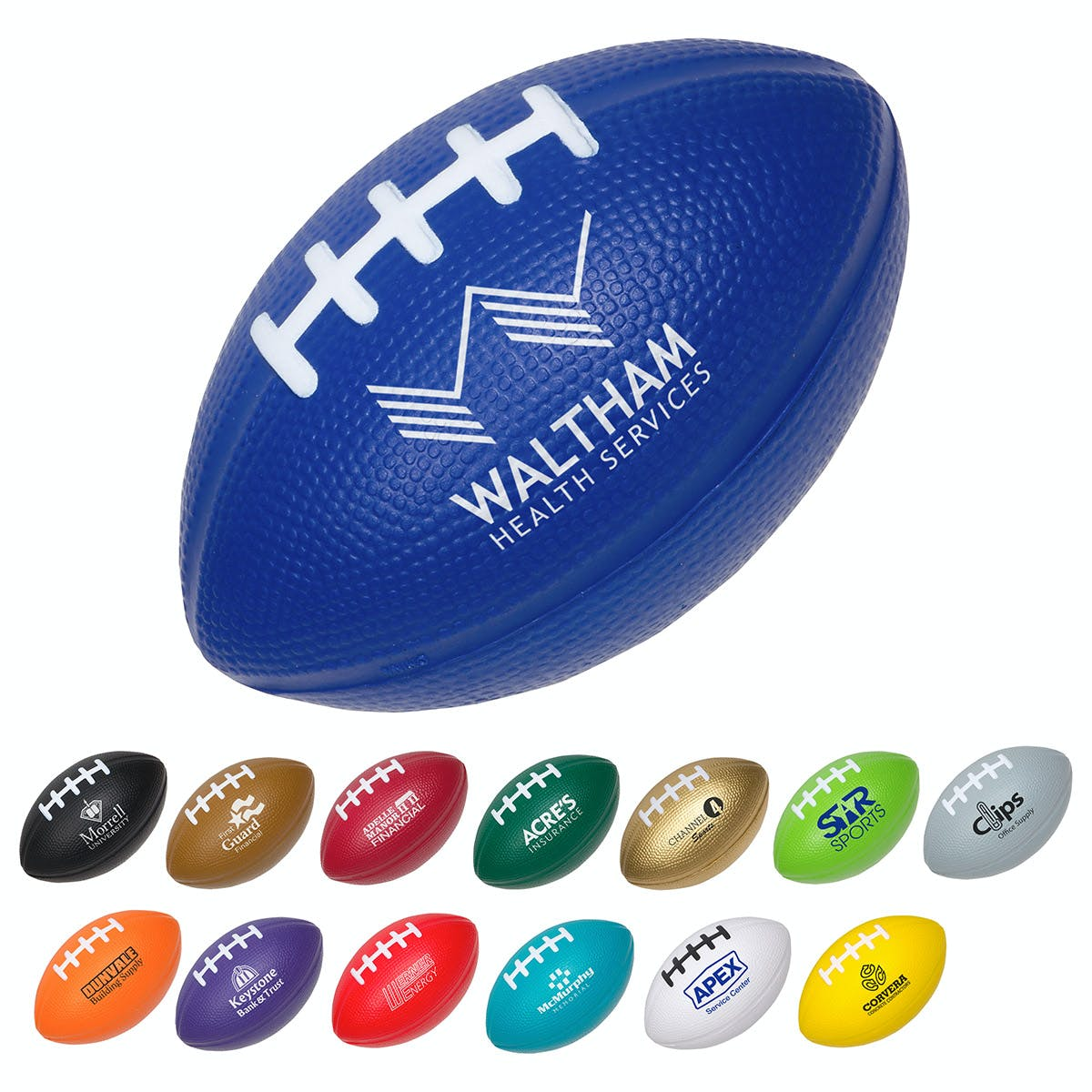 Football Stress Reliever (Item # VAHHR-KBDBG) Stress ball sold by InkEasy