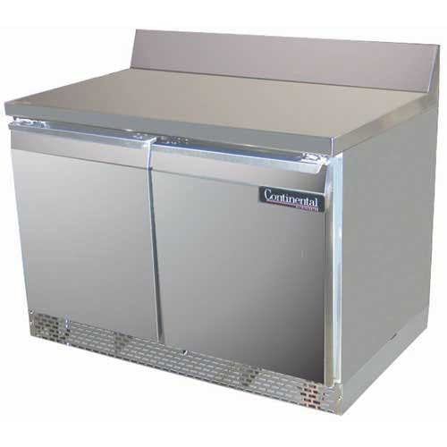 "Continental Refrigerator - SW48-BS-FB 48"" Worktop Refrigerator Commercial refrigerator sold by Food Service Warehouse"