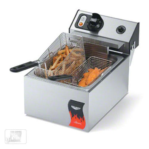 Vollrath (40706) - 10 Lb. Standard-Duty 220V Electric Countertop Fryer - Cayenne Series Commercial fryer sold by Food Service Warehouse
