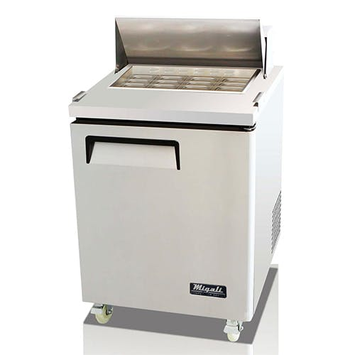 Migali C-SP27-12BT Single Door Prep Table Food prep table sold by Pizza Solutions