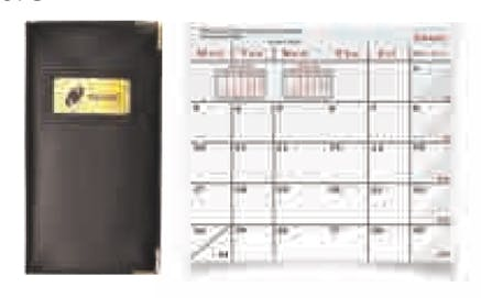 Monthly Laser Planner W/ Gold Metal Corners Custom calendar sold by Dechan, Inc. II