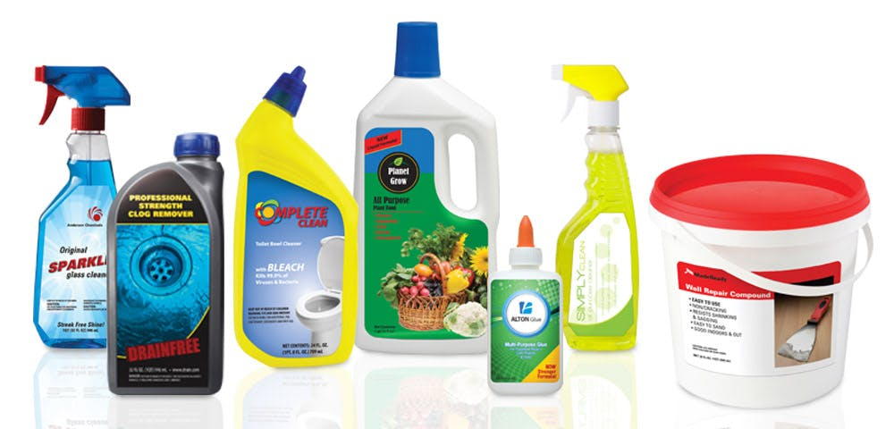 Household Chemical Labels Bottle label sold by Worldwide Ticket and Label