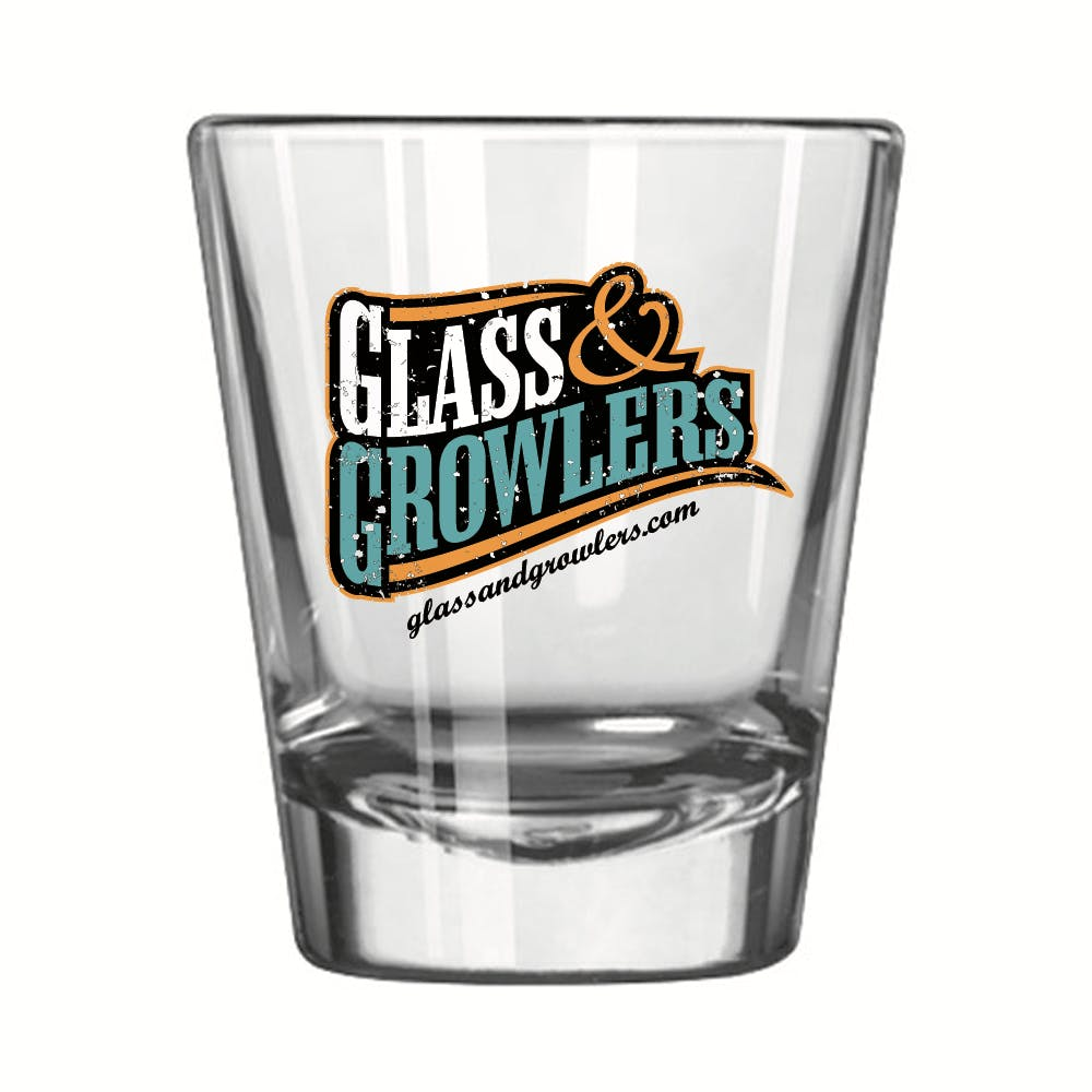 Whiskey Shot 1.75 oz Shot glass sold by Glass and Growlers