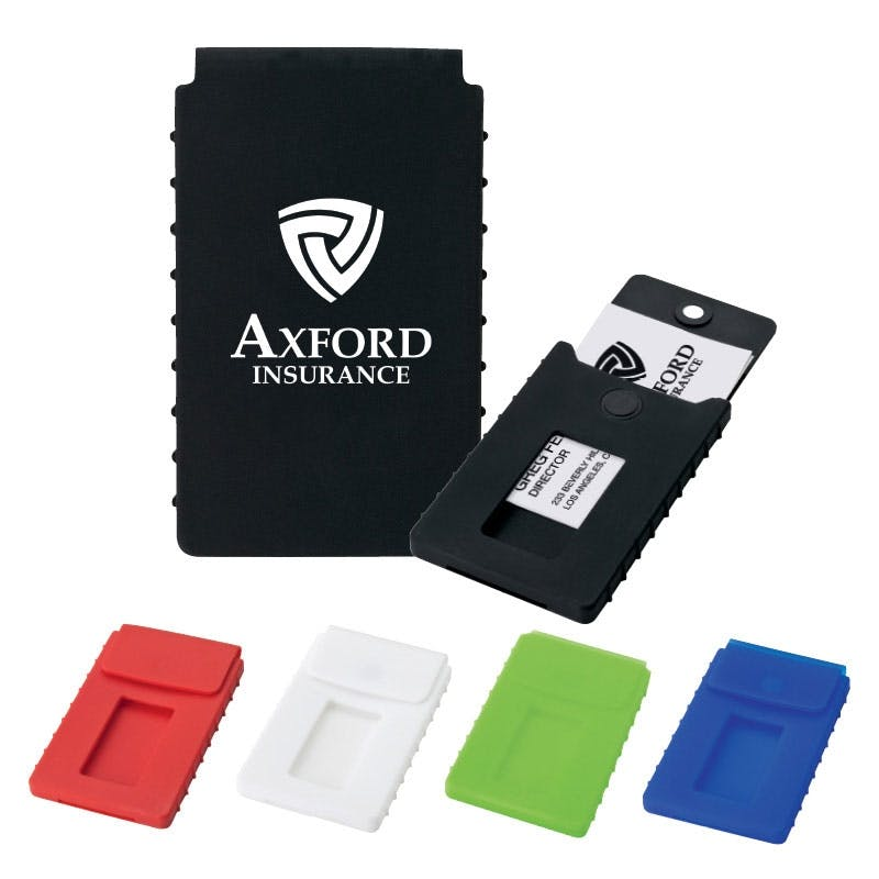Silicone Business Card Case (Item # QCFHR-IEQKI) Promotional product sold by InkEasy